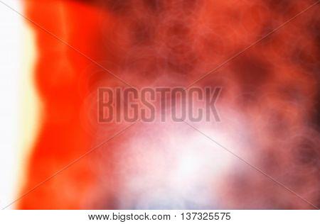 Horizontal burning sun corona blobs bokeh background