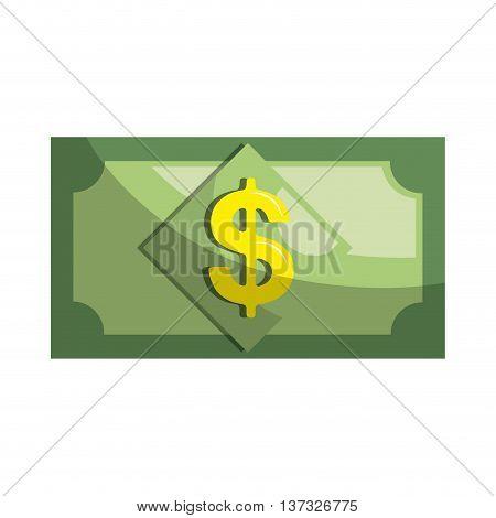 Money bill isolated flat icon, vector illustration graphic design.