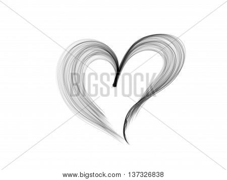 heart lovely monochrome background, abstract lines textured heart lovely