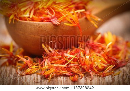 Close up of Safflower used as a food additive