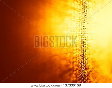 Vertical right aligned orange bamboo bokeh background