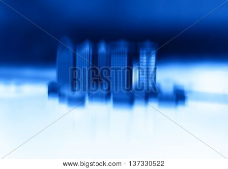 Toy office buildings motion blur abstraction bokeh background