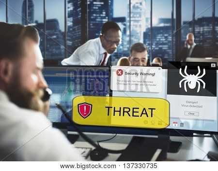 Business Office Threat Digital Technology Concept
