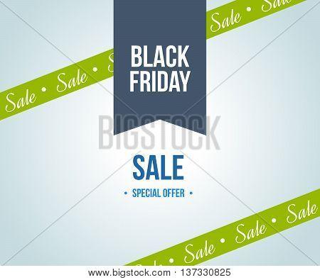 Black friday sale design template elements for sales promotion. Black friday banner. Mega discount. Super Sale and special offer. Vector illustration EPS 10