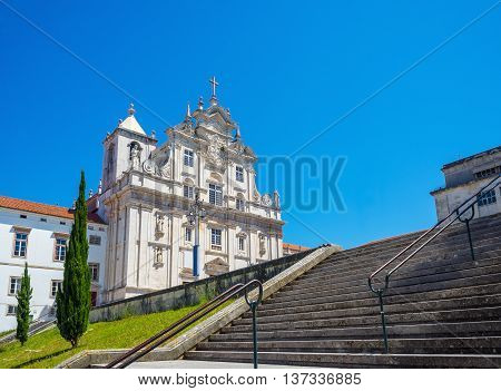 New Cathedral Of Coimbra, Se Nova. Portugal.