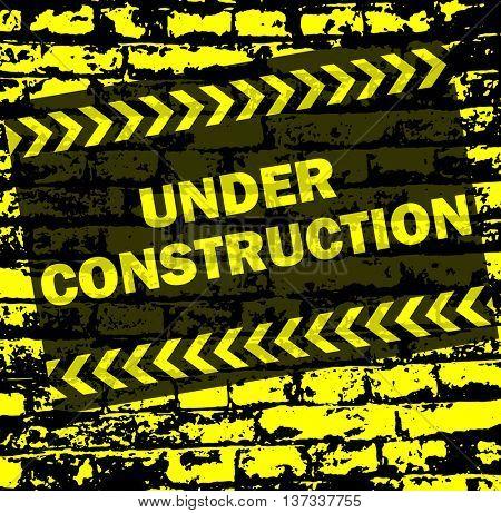 under construction background - vector