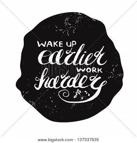 Job motivation lettering