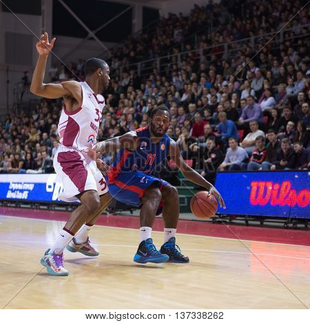Bc Cska Guard Jeremy Pargo (11) With Ball