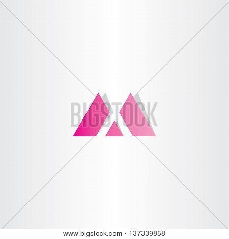 letter m magenta logo vector font illustration element