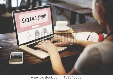 Online Shop Buy Internet Shopping Store Concept