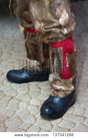 National Sami shoes - boots (hatchets) in galoshes