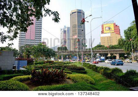 Kuala Lumpur/Malaysia - September 2012: Skyscrapers near Merdeka Square in Kuala Lumpur, Malaysia.