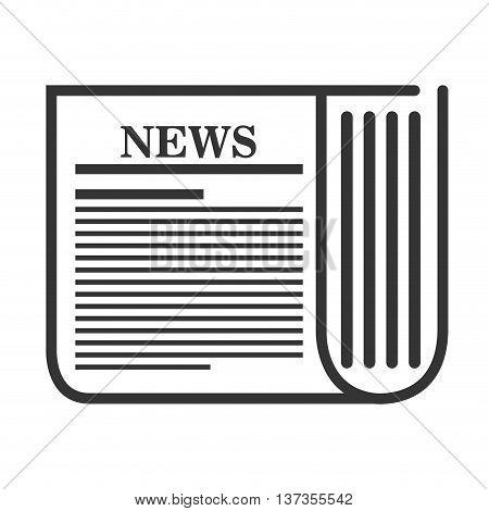 Newspaper media isolatd icon design, vector illustration graphic.