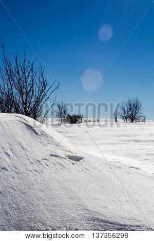 Drifted Snow And A Blue Sky