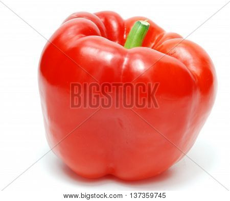 Isolated Red Fresh Pepper on White Background