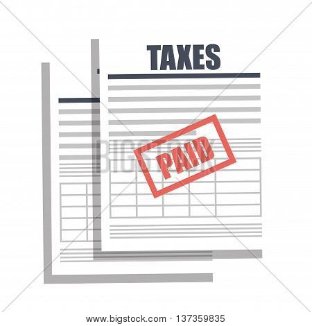 Tax payment bill, isolated flat icon vector illustration.