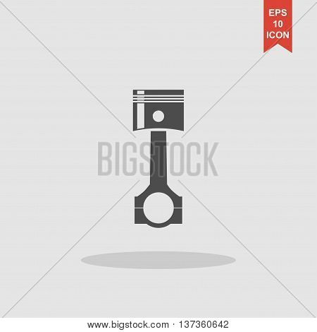 Piston Icon. Flat Design Style.