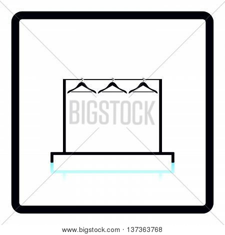 Clothing Rail With Hangers Icon