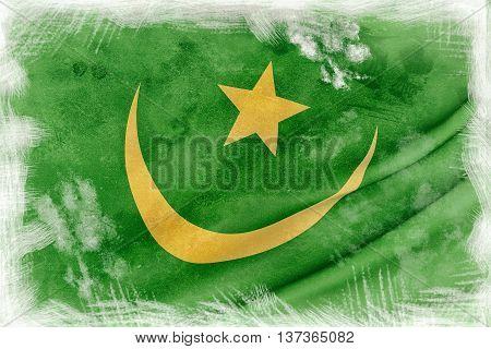 Mauritania Flag Waving