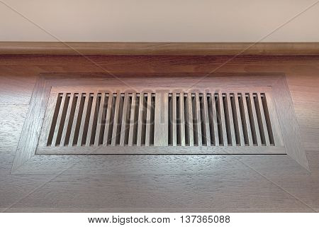 Wood Floor Vent Cover for home heating and cooling system