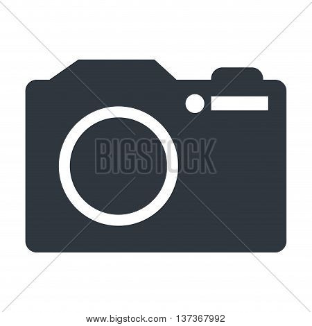 Photographic camera isolated flat ico, vector illustration graphic.