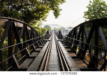 Bridge on the river kwai Kanchanaburi provinceThailand