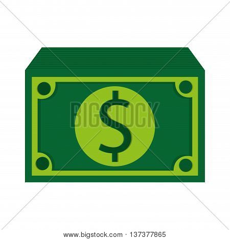 simple flat design green dollar bills icon vector illustration