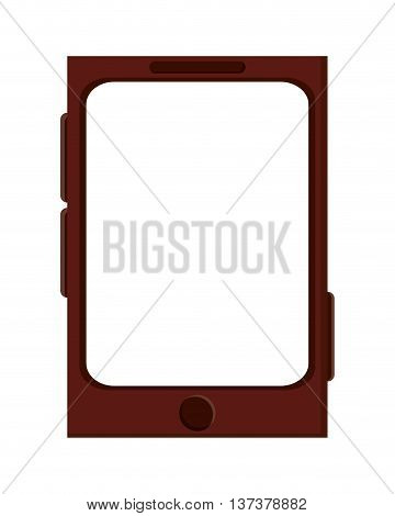simple flat design cellphone with touchscreen icon vector illustration