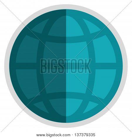simple flat design earth globe diagram icon vector illustration