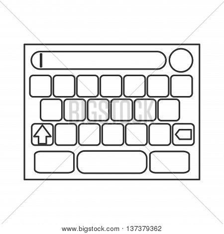 simple flat design touchscreen keyboard icon vector illustration