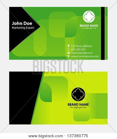 GReen business card template template vector design