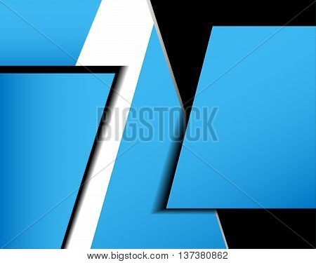 Blue background vector overlap dimension on white background square line for text and message design