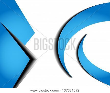 Blue background vector infographic information graphic for message and text design