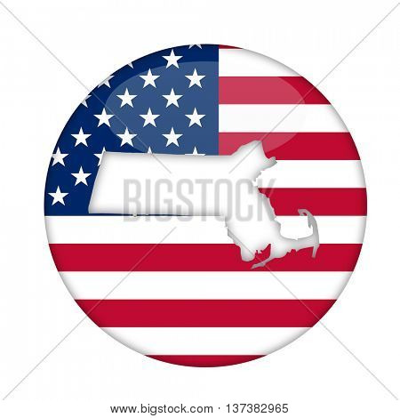 Massachusetts state of America badge isolated on a white background.
