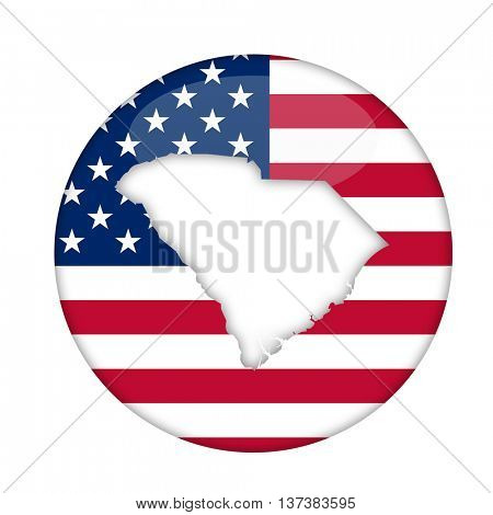 South Carolina state of America badge isolated on a white background.