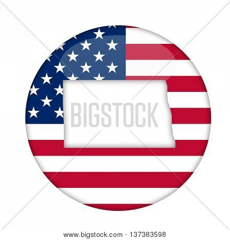 North Dakota state of America badge isolated on a white background.