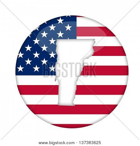 Vermont state of America badge isolated on a white background.