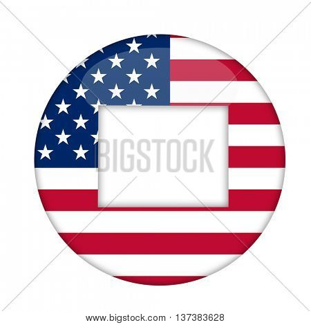 Wyoming state of America badge isolated on a white background.