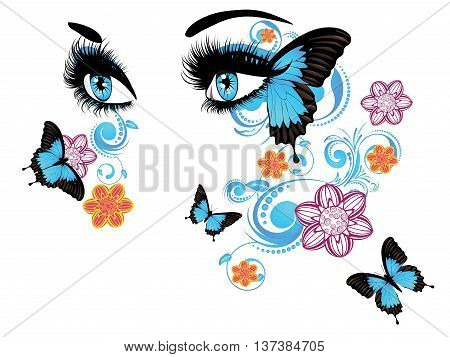 Summer Eyes With Floral