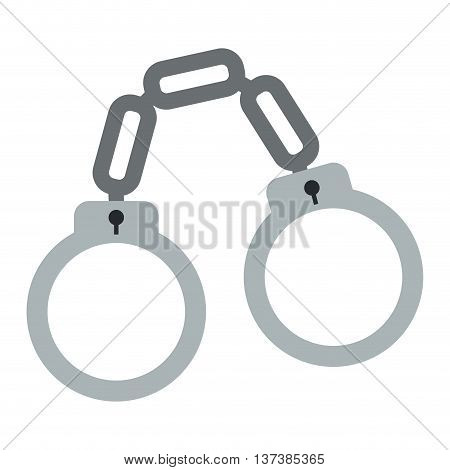 simple flat design chain handcuffs icon vector illustration