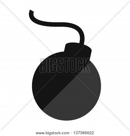 simple flat design cartoon bomb icon vector illustration
