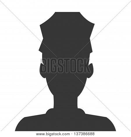 simple flat design police officer icon vector illustration