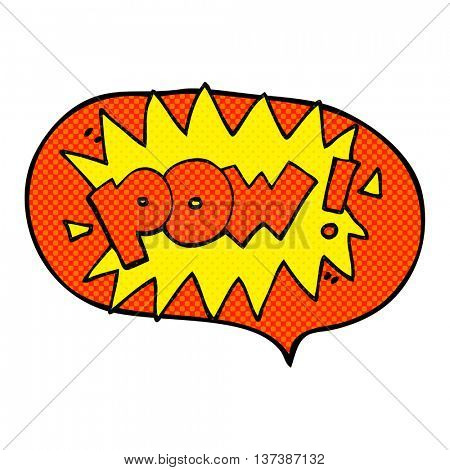 freehand drawn comic book speech bubble cartoon pow symbol