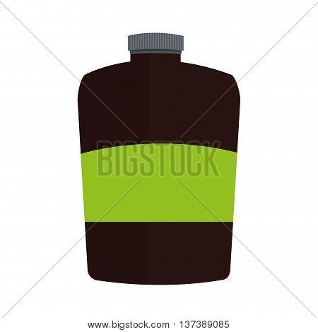 simple flat design dietary supplement icon vector illustration