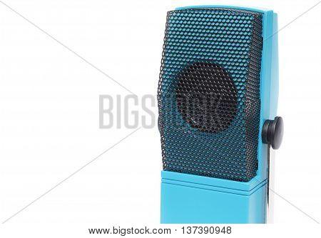 Mini speaker Microphone, on white background .