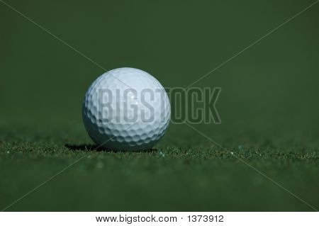 Golf Ball At The Golf Course