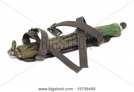 Army knife in scabbard