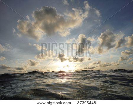 Sunset and sea at Koh Chang, Trat