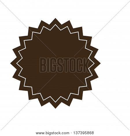 simple flat design brown circular badge icon vector illustration