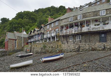 Lifeboat Station & Crazy Kates Cottage Clovelly Harbour Devon